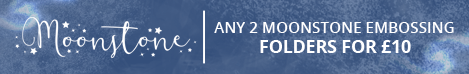 Moonstone Embossing Folders 2 for £10