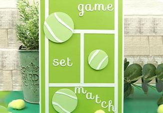 How to Make a Tennis Court Card