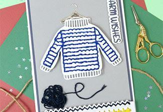 How to Make a Fun Jumper Card with our Stitch It Moonstone Dies