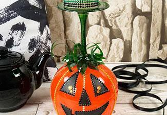 How to Make a Pumpkin Glass Candle Stand