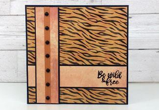 How to Make an Animal Print Card