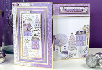 How To: Contemporary Christmas Fold Back Card