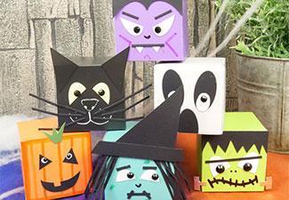 How To Make Halloween Box Characters