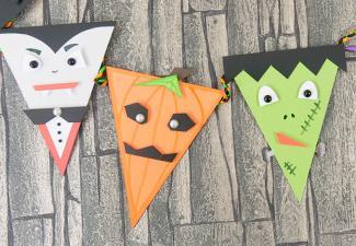 How to Make Halloween Bunting