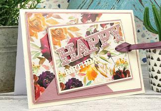 How to Make a Floral Happy Birthday Card