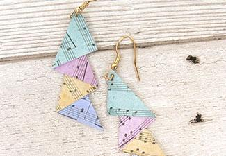 How to Make Paper Earrings