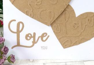 How to Make Your Own Love You Kraft Card