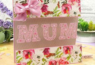 How to Create a Beautiful Floral Card for Mum