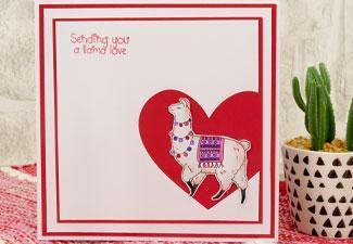 How to Make a Llama Love Card