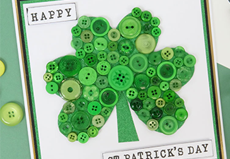 How to Make a Shamrock Button Card