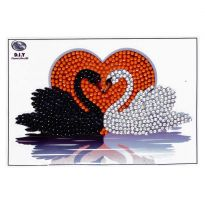 Crystal Art Motif Kit - Kissing Swans