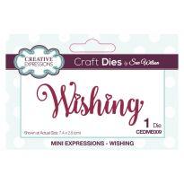 Sue Wilson Die - Mini Expressions Wishing x 1 die (7.4cm x 2.5cm)