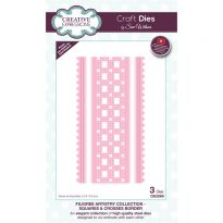 Filigree Artistry Collection Squares & Crosses Border x 3 dies