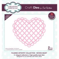 Filigree Artistry Collection Woven Heart x 2 dies