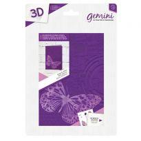 3D 5x7 Embossing Folder & Stencil - Butterfly Effect