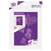 3D 5x7 Embossing Folder & Stencil - Contemporary Hearts