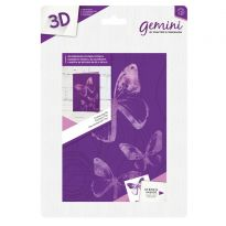 3D 5x7 Embossing Folder & Stencil - Fluttering By