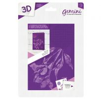 3D 5x7 Embossing Folder & Stencil - Rose Hip
