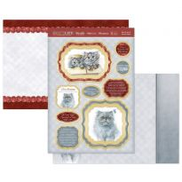 Blue Persian & Persian Kittens Luxury Topper Set
