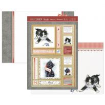 Tuxedo Cat & Lucky Black Cat Luxury Topper Set