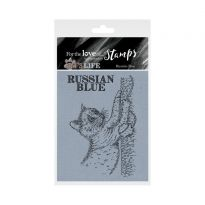 It's A Cat's Life Clear Stamp - Russian Blue