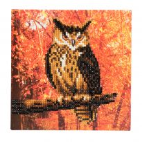 Crystal Card Kit - Autumn Owl