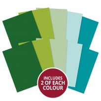 Adorable Scorable A4 Cardstock x 10 sheets - Greens
