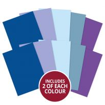 Adorable Scorable A4 Cardstock x 10 sheets - Blues