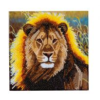 Crystal Card Kit - Resting Lion
