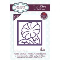 Sue Wilson Die - Frames and Tags Collection Petunia Flower Square