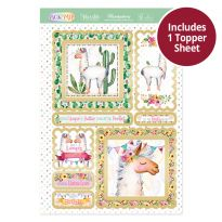 Pick 'N' Mix Topper Sheet - Llama Love