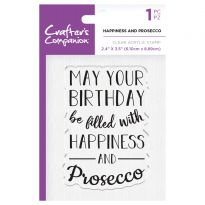 CC - Clear Acrylic Stamps - Happiness and Prosecco