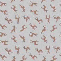 Lewis & Irene - Fat Quarter - Deer on grey