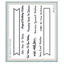 Essential Banner & Flag Sentiments A5 Clear Stamp Set x 10 stamps