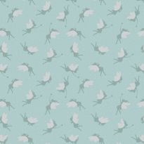 Lewis & Irene - Fat Quarter - Fairies on duck egg (with silver metallic)