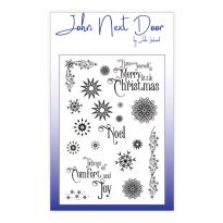 John Next Door A6 Clear Stamp - Snowflakes