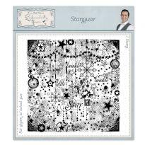Stargazer Pre Cut Rubber Stamp