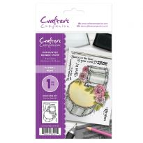CC - A6 Rubber Stamp - Floral Beat