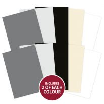 Adorable Scorable A4 Cardstock x 10 sheets - Monochrome Shades (2021-2022)
