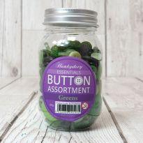 Hunkydory Button Assortment - Greens