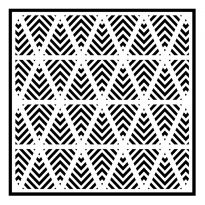 Chevron Pennants 6 x 6 Stencil by Sue Wilson