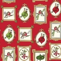 Debbie Shore's Deck the Halls Festive Fabric - Frames