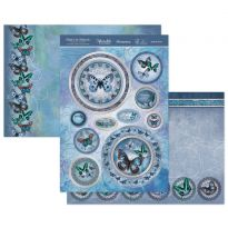 Butterfly Blues Luxury Topper Set
