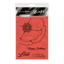 For the Love of Stamps - Perfect Poppy