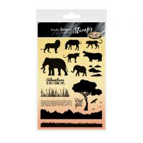 For the Love of Stamps A5 Stamp Set - Twilight Safari