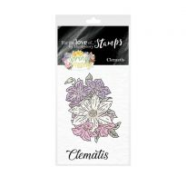 For the Love of Stamps - Mini Stamps - Clematis