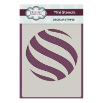 Creative Expressions Mini Stencil Circular Stripes