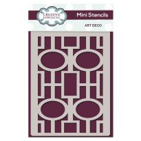 Creative Expressions Mini Stencil Art Deco