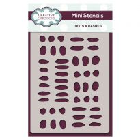 Creative Expressions Mini Stencil Dots & Dashes