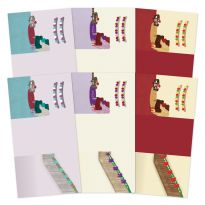 Festive Moments - Set the Scene Z-Fold Card Blanks - Deck the Halls
